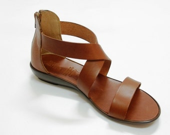 "Greek Leather Sandals ""charisma"" code #400"