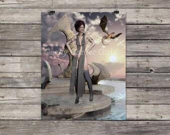 Dragon Princess digital art