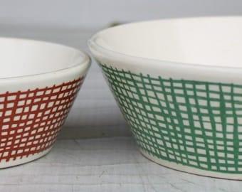 2 Bowls Bowl-set vintage shabby 50s 50s 60s 70s antique