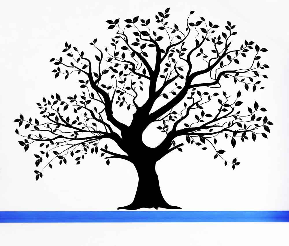 Tree Wall Decal Tree Decal Leaf Decal Family Tree Wall