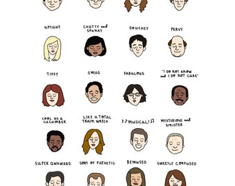 The Office Mood Chart Print - Hand-Illustrated