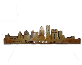 City of Louisville Vintage Steel Custom Skyline Metal Wall Art