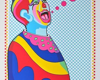 Shouting Clown Print Series