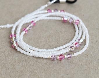 Swarovski Eyeglasses Chain, Eyeglass Holder Necklace, Reading Glasses Chain, Eyeglass Chain, Glass Cord, Glass Lanyard / 29 inch / EGH-1022