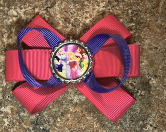 Disney Princess Hair Bow Pink