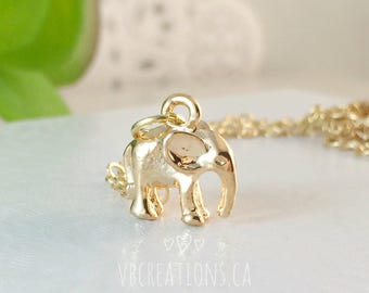 3D Lucky Elephant Necklace - Elephant Necklace - Baby Elephant - Chance Jewelry - Protection - Friend Necklace - Friendship - Friend Gift