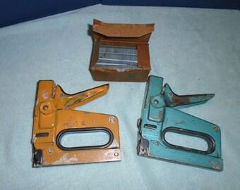 Staple guns. Bostitch staple guns. Bostitch tacker. Vintage tools. Staple gun.
