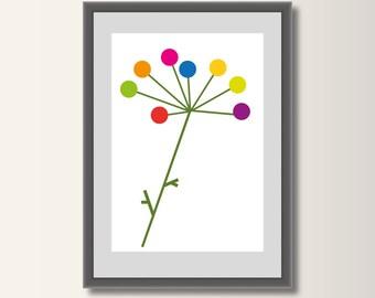 Flower, geometric printing, abstract, geometric, minimalist printing, Scandinavian printing, abstract poster, minimal print
