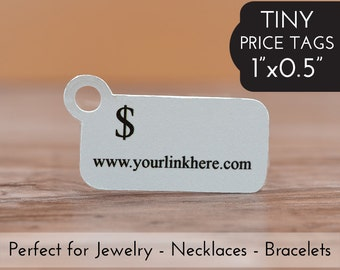 """0.5""""x1"""" Price Tags - Tiny Jewelry Tags - Packaging Tag Bracelets Necklaces"""