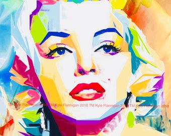 Marilyn Monroe : 3  Digital Download Prints 8x10.16x20, 20x30,  inches