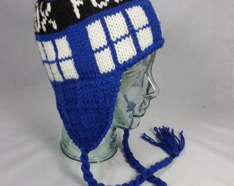 Dr. Who TARDIS Earflap Hat