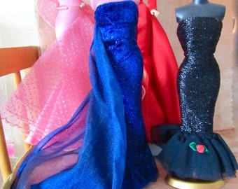 Vintage Barbie Gown Lot Of 4 With Tag  No Doll