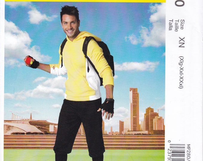 FREE US SHIP McCall's 280 7486Pattern Men Sizes X-Large xx-Large xxx-Large Pokemon Go Style Costume Hoody Top pants chest 46-56 Uncut new