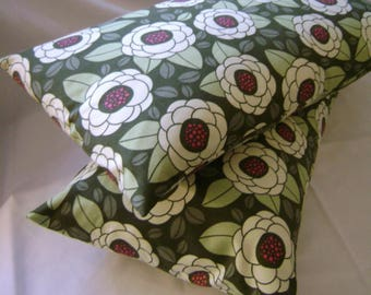 Pair of Pillow Covers 12 x 20 Thyme Ginseng Bloom by Lilikins Baby + Home