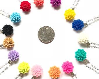 Flower Neckace is Pendant + Necklace