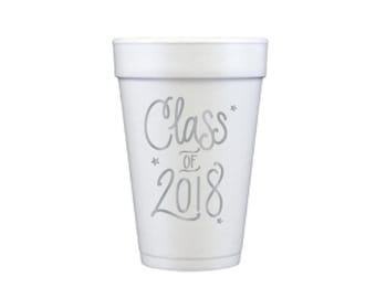 Graduation Foam Cups - SILVER INK (in-stock!)