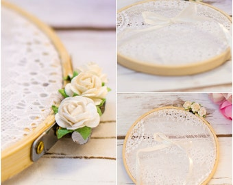 Wedding Ring Pillow Alternative Ring Box Lace bearer Rustic Chic Ring Pillow Lace Ring Pillow Alternative wedding decor
