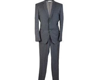 Pierre Balmain Vintage Gray Wool Jacket Trousers Suit