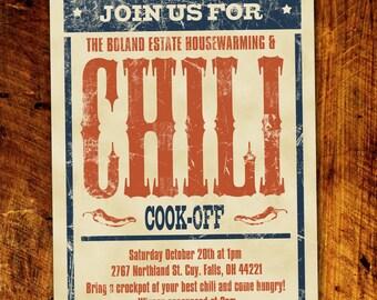 Chili Cook-Off BBQ Invitation *Digital Download*