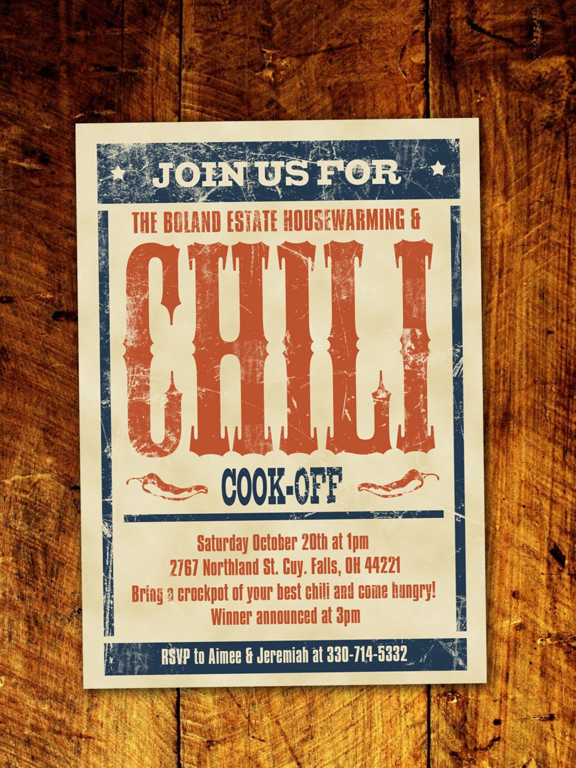 Chili cook off bbq invitation digital download description this chili cookoff xflitez Choice Image