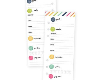 Carpe Diem Fitness Double-Sided Bookmark Tablet A5 Punched Daily Tracker W/24 Sheets • Simple Stories (8904)