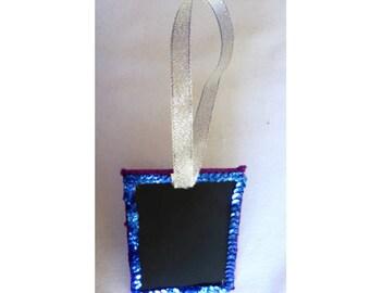 Mini Blackboard / Chalkboard Gift Tag, in Purple Velvet 3u