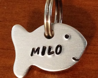 small pet tag, cat pet tag, fish id tag, small tag, fish tag, Pet id tag, small dog tag, custom dog tag, cat id tag, personalized id tag,
