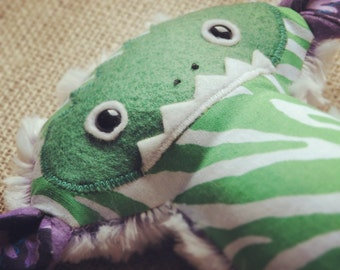 Purple and Green Yeti Plush