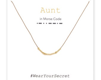 Aunt necklace or bracelet, Unique Gift, secret message necklace, Morse Code, Gifts for Her, Gifts for Women