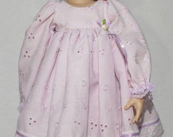 16 inch Kish Dress Purple Eyelet