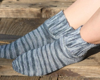Hills and Valleys - Crochet Sock Pattern  - Reduced Price