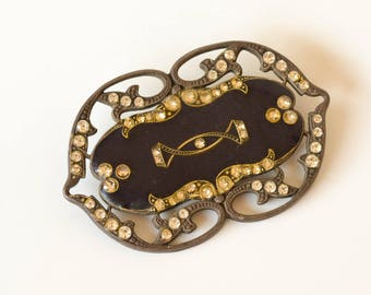 Art Deco Brooch, Vintage Catherine Popesco, French Handmade Jewelry