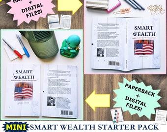 Mini Smart Wealth Starter Pack with Book, debt payoff, budget planner, monthly budget, finance planner, debt tracker, savings, finance book