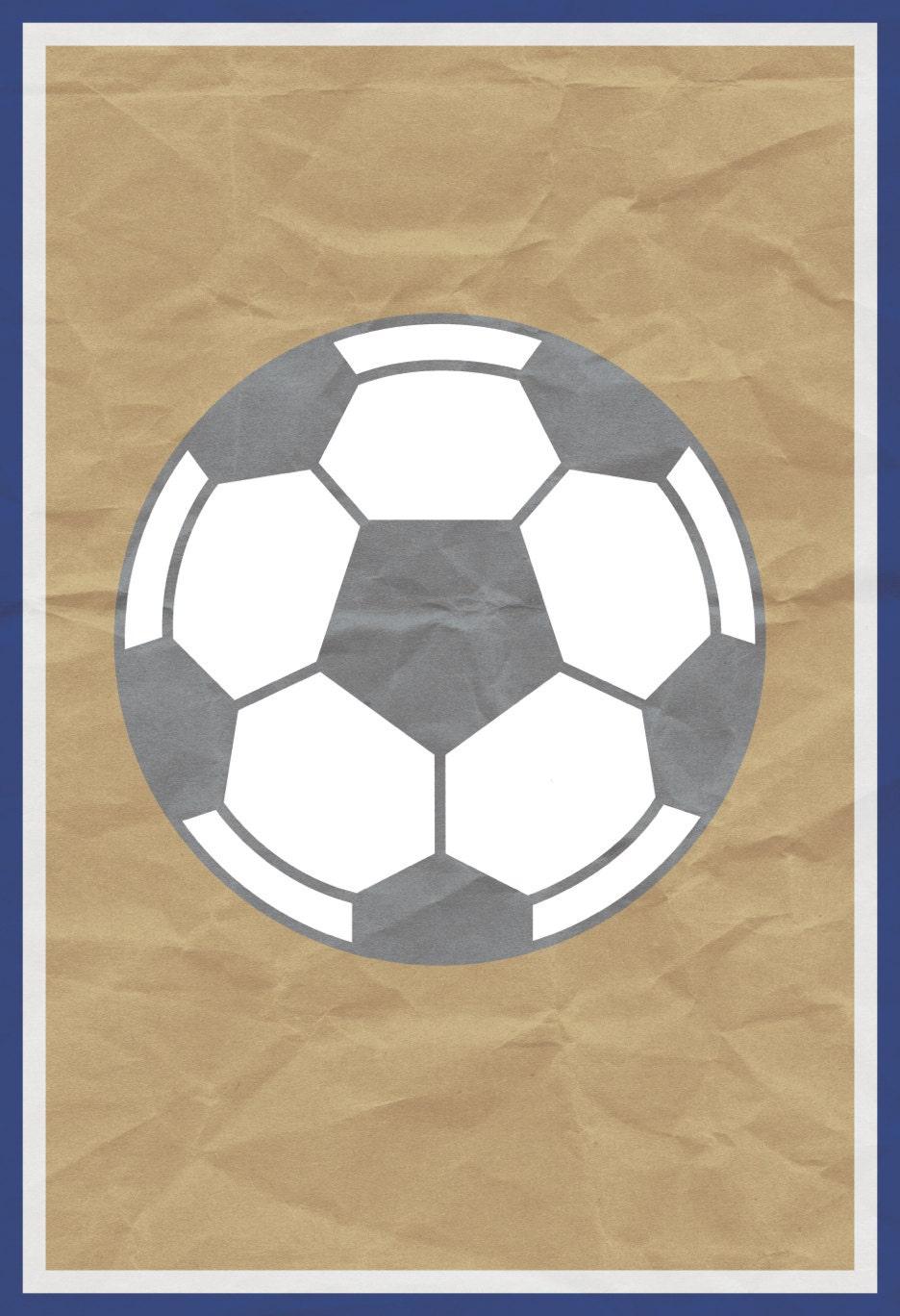 Soccer Print Kids Sports Poster Futball Office Art MLS