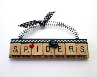 Spiders Love Spiders Scrabble Tile Ornament