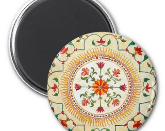 Refrigerator Magnet- Floral Design - Party Favor, Stocking Stuffers, Hostess Gifts