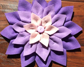 Handmade Felt Purple Multi Flower