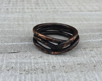 Rustic Copper Ring