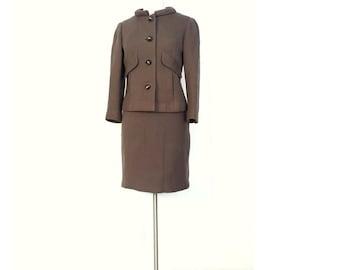 Bill Blass Suit | 60s Skirt Suit | 1960s Suit | XS