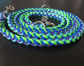 8 strand braid hands free dog leash