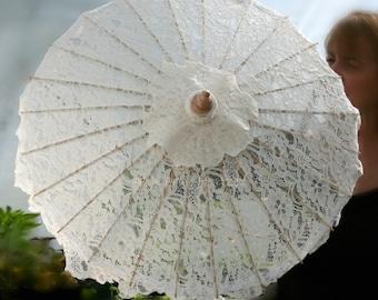 Parasol - Ivory Lace Parasol - Beautiful Ivory Lace