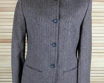 Vintage 60s Pendleton wool skirt suit herringbone weave pencil skirt blazer jacket size S small chest 38 waist 28 USA