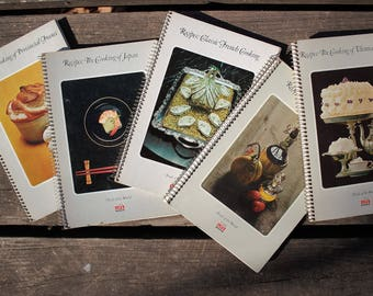 A Bevy of International Cookery, Time Life 1960's Foods of the World Recipe Books, Vintage Cookbooks