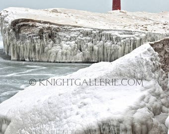 Winter Portrait: Kenosha, Wisconsin Lighthouse