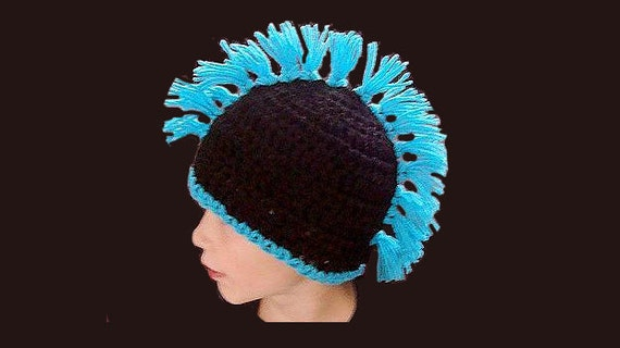 Crochet Pattern Mohawk Hat Pdf 234 Instant Download Crochet