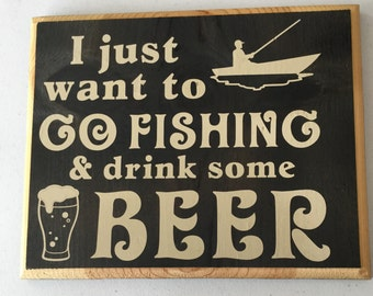 Fishing and drink some beer