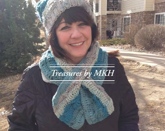 Slouchy Hat with Matching Keyhole Scarf
