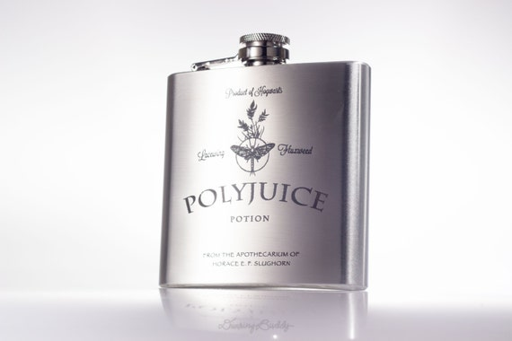 Polyjuice Potion inspired by Harry Potter -  6oz Engraved Hip Flask