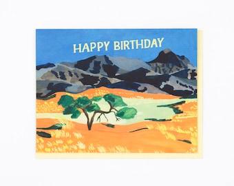 Orange Plains Birthday Card
