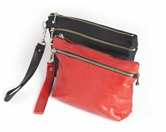 Leather Phone Case, Wristlet, Clutch, Gadget Case, Wallet, Coin Purse-THE ADELLE